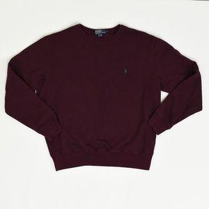 Ralph Lauren Regular L Red   Hoddie Cotton Solid